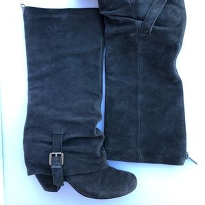 Naughty monkey grey suede boots